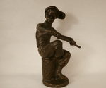 "A statuette ""A Hockey Player"""