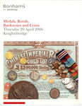 "Каталог аукциона ""Bonhams"" ""Medals, Bonds, Banknotes and Coins"". 26 апреля 2006."